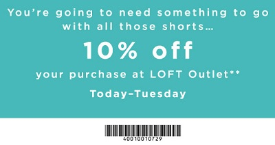 Coupon for: Get LOFT Outlet printable coupon and save money
