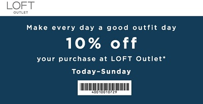 Coupon for: LOFT Outlet Stores: Make every day a good outfit day
