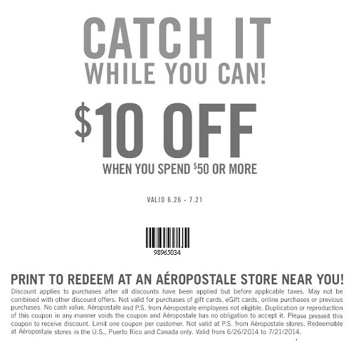 Coupon for: Aéropostale, save up to 70% off