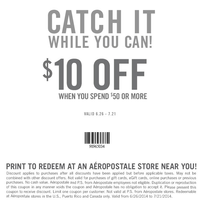Coupon for: Aéropostale, Take it off