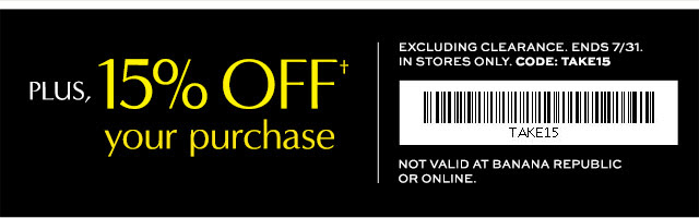 Coupon for: Banana Republic Factory Store, Clearance event