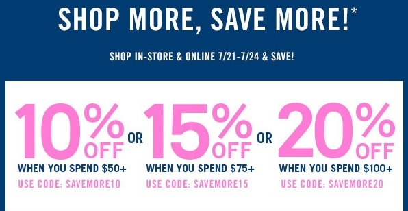Coupon for: Forever 21, Spend more, save more ...