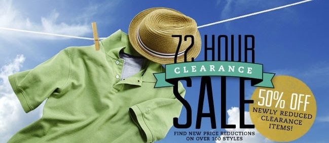 Coupon for: Haggar, 72 hour Clearance SALE