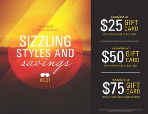 Coupon for: Solstice, Sizzling Styles & Savings