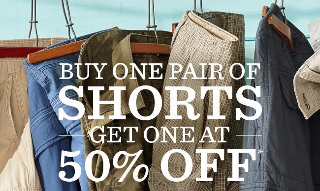Coupon for: Tommy Bahama, BOGO shorts