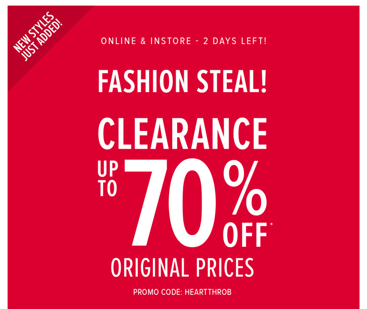 Coupon for: Torrid, Clearance - last 2 days