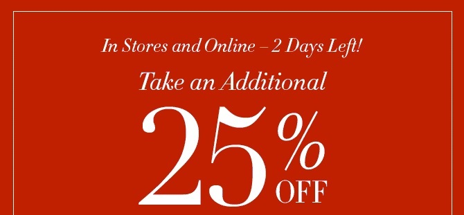 Coupon for: Williams-Sonoma, extra 25% off ...