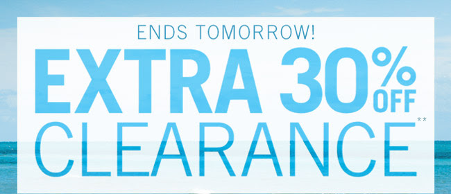 Coupon for: Aéropostale, Extra 30% off Clearance